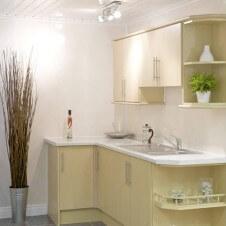 White Kitchen Wall UPVC Cladding