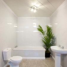 Black Bathroom Wall UPVC Cladding